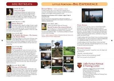 Retreat Center brochure schedule 2012-r2-p2
